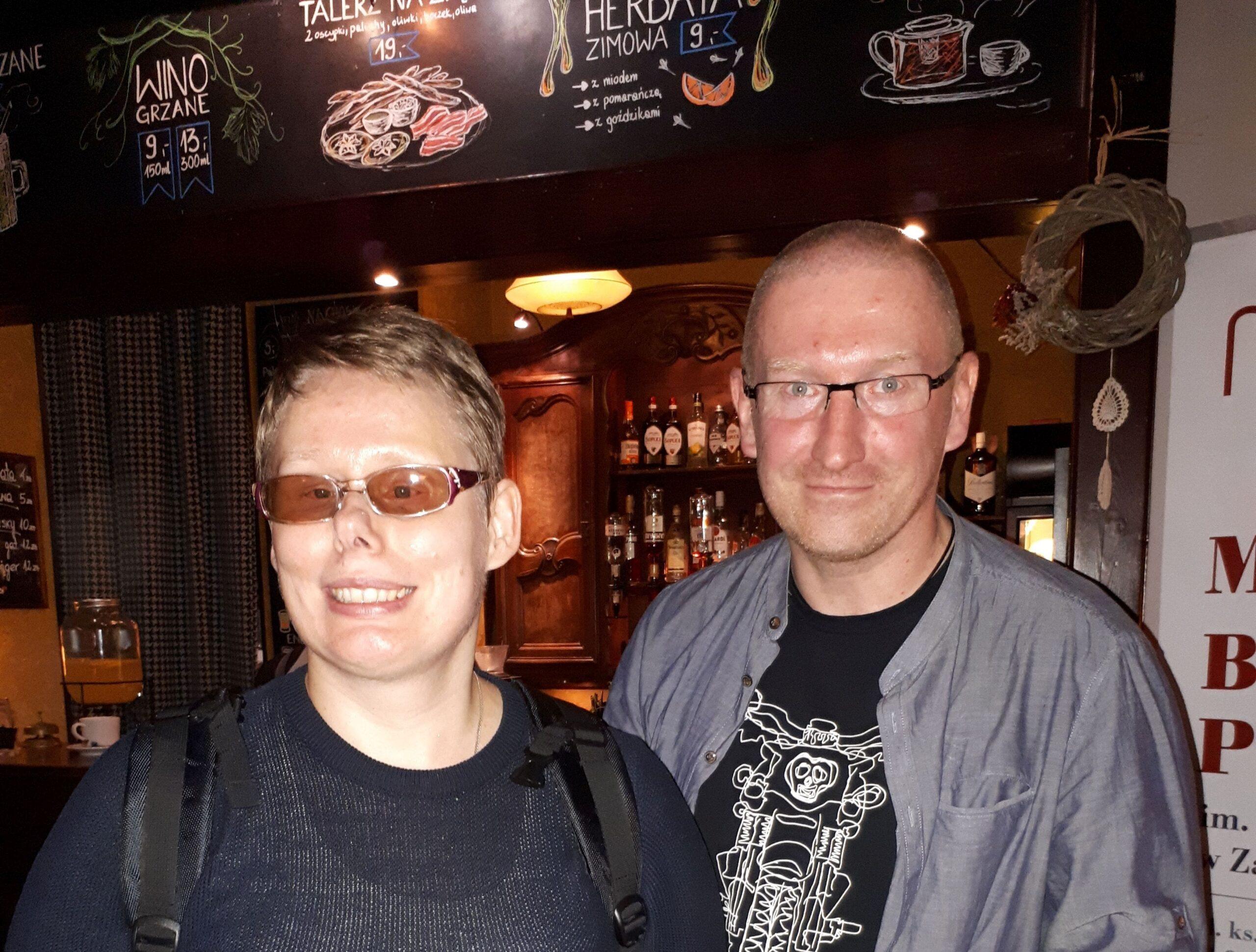 Na zdjęciu Stasia z Robertem Małeckim