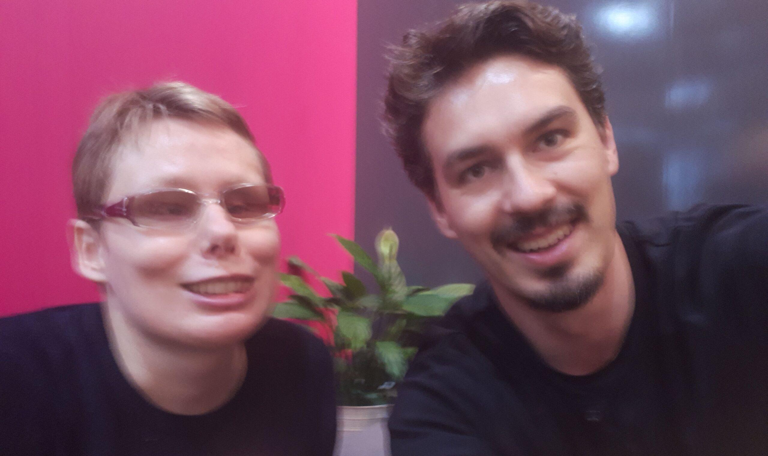 Na zdjęciu Stasia z Tomaszem Michniewiczem
