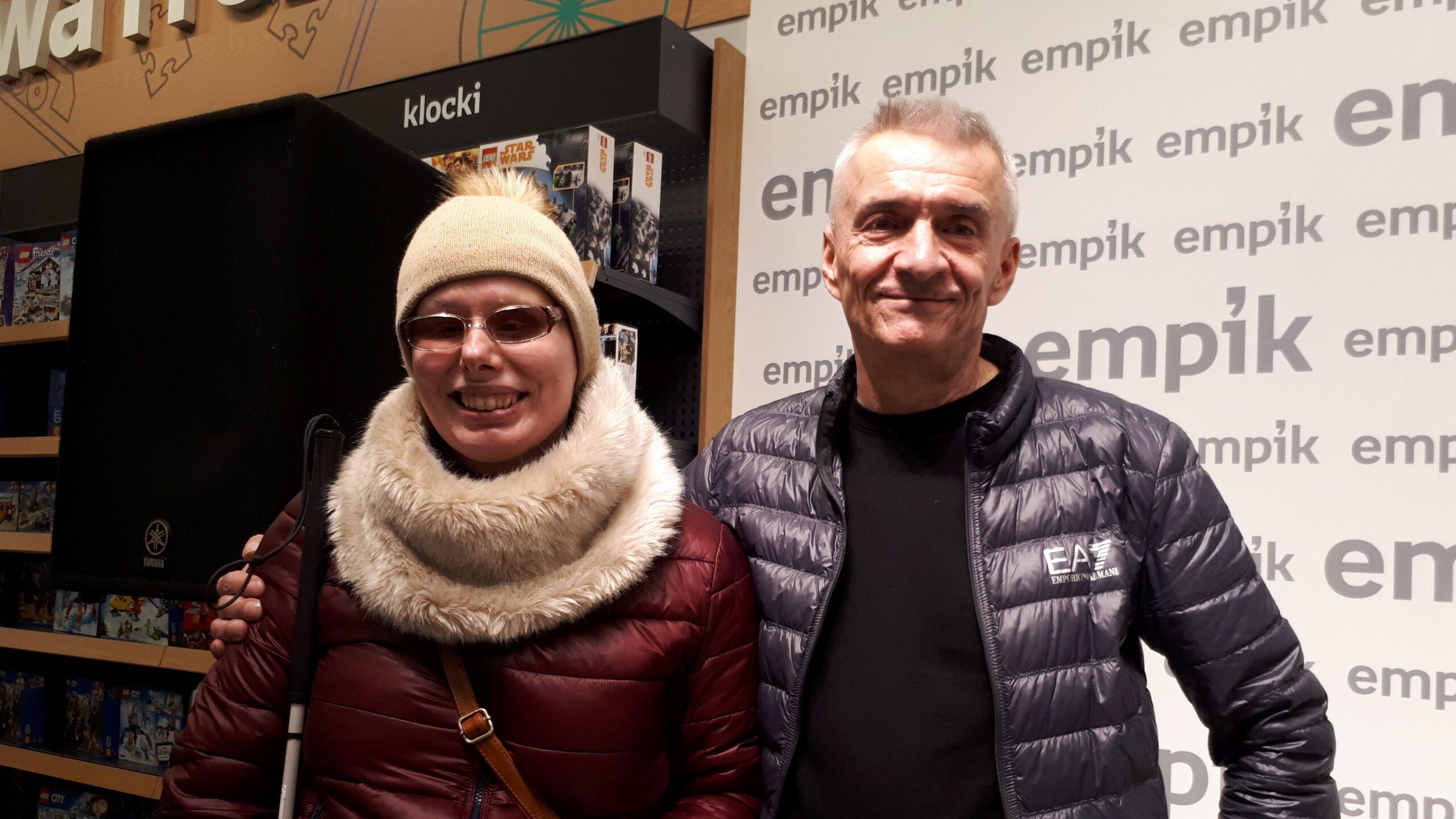 Na zdjęciu Stasia z Andrzejem Ziemiańskim