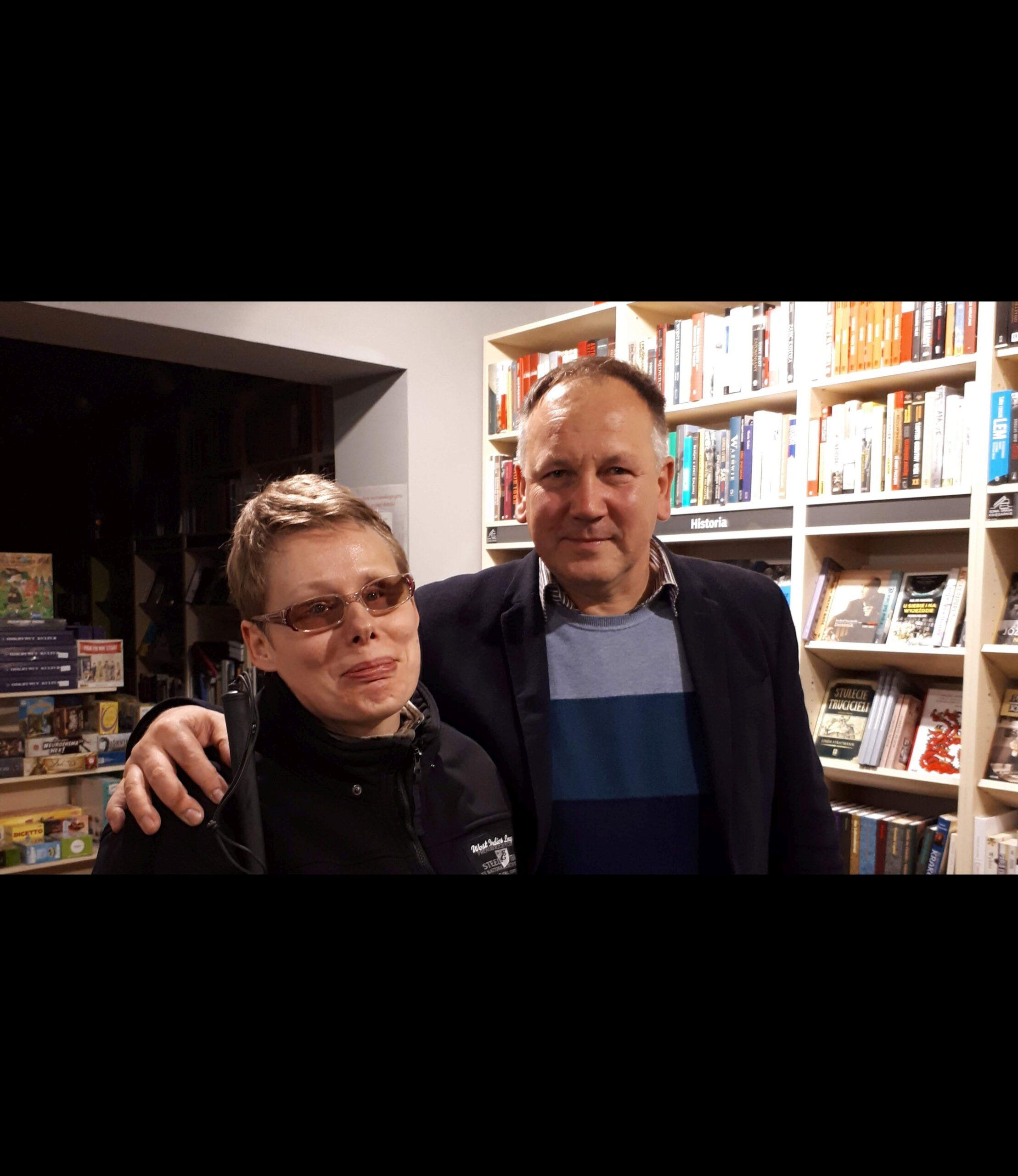 Na zdjęciu Stasia z Cezarym Łazarewiczem